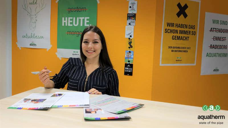 #aquathermAzubi Desireé lernt das Team Personal kennen