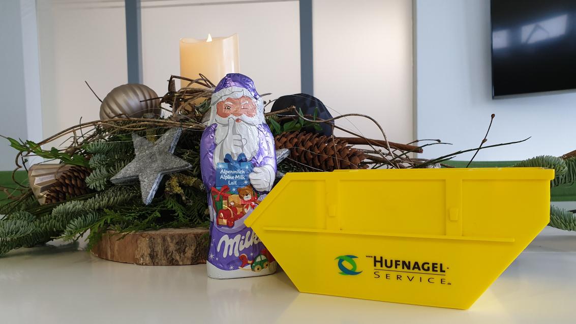 Der Nikolaus zu Besuch bei der Hufnagel Service GmbH