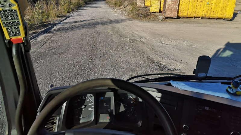 Arbeitsplatz des Berufskraftfahrers
