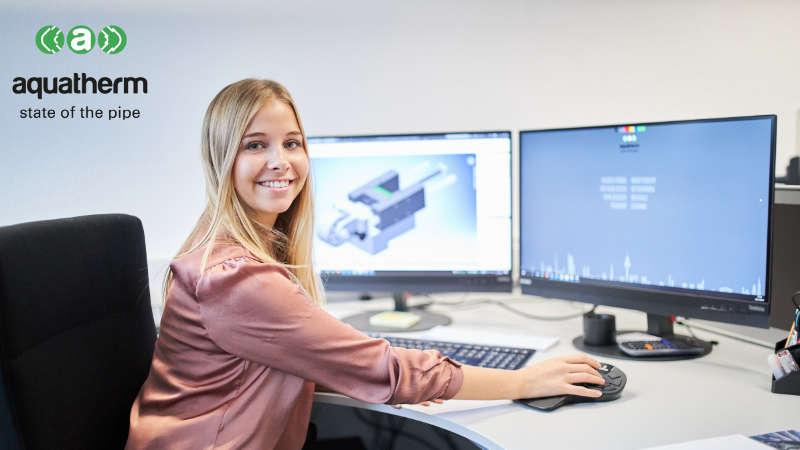 > Die #aquathermFamilie stellt sich vor: Melina, unsere Auszubildende zur techn. Produktdesignerin